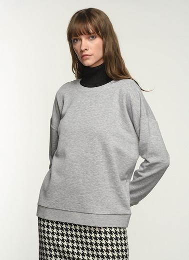NGSTYLE NGSTYLE Kadın O Yaka Sweatshirt Gri